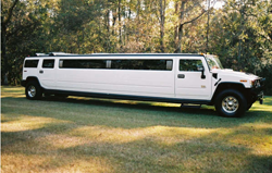 White Stretch H2 Hummer Limo