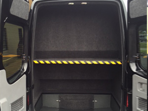 luggage in mercedes sprinter van